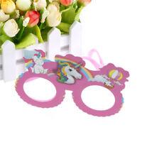 Party Glasses Unicorns Party Masks Kids Happy Birthday Baby Shower Decor VE