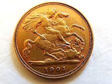 1901 British Half Sovereign Gold Coin