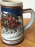 Collectible Beer Stein Budweiser 1989 Ceramic Mug Collector's Series Clydesdales