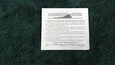 AMERICAN FLYER # M2474 LUBRICATION SMOKE UNIT MOTOR INSTRUCTIONS PHOTOCOPY