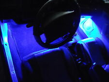 4Pc Blue Neon Interior, Underdash Lighting Kit with Remote & Effects!