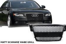 Audi A4 B8 2009-12 Griglia Nido D'Ape Radiatore Nero Opaco Mesh Rs4 S LINE