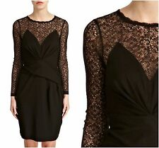 FRENCH CONNECTION noir Parti dentelle Occasion Robe UK10