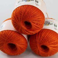 Sale 3 BallsX50gr Cotton Crochet Thread Yarn Craft Tatting Knit Embroidery 23