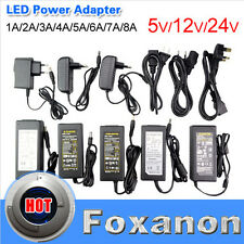 AC110 220V Power Supply Adapter Transformer LED Strip 2A 3A 5A 8A DC 5V 12V 24V