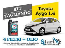 Kit Tagliando Olio Total + Filtri Tecneco Toyota Aygo 1.4 Hdi 40KW