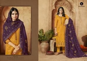 Indian Salwar Kameez Free Size Pakistani Designer Embroidery Work Trouser Pant