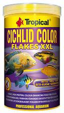 Tropical Cichlid Color Flakes XXL Flockenfutter für Cichliden 1000ml