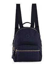 Tory Burch Tilda 51329-405 Backpack Navy Nylon Laptop Pocket Zip Compartments