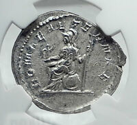 PHILIP I the ARAB Genuine Ancient 246AD Rome Silver Roman Coin w ROMA NGC i81426
