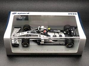 Instock S6480 Spark 1/43 Pierre Gasly Alpha Tauri 2020 Italian Grand Prix Winner