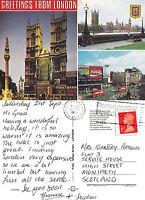 1991 MULTI VIEWS OF LONDON COLOUR POSTCARD
