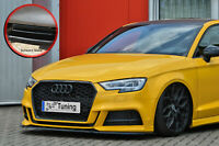 Cuplippe Frontspoiler ABS Audi A3 S3 8V S-Line Limo Facelift ABE schwarz glanz
