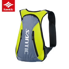 Santic Bicycle Bag Cycling Backpack 15L Reflective Water Resistant Bag Green
