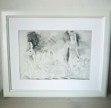 Pablo Picasso - ORIGINAL VINTAGE ART - 1970 Grabado Suite 347 - Print Etching #2