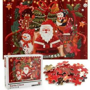 1000 Pieces Santa Claus Jigsaw Puzzles Merry Christmas Cartoon Toys Children
