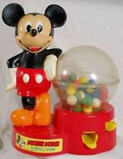 Vintage Mickey Mouse Gumball Machine Disney Key and Original Gumballs