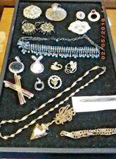 Vintage Costume Jewelry lot Brooch necklaces charms bracelet etc.