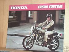 1980 Honda CX500 Custom Motorcycle Sales Brochure - Literature