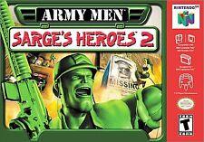 ARMY MEN SARGE'S HEROES 2 N64 NINTENDO 64 GAME COSMETIC WEAR