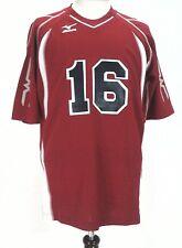 Mizuno Men's Valleyball Baseball Red Blue 16 Sport Jersey Large EUC Rare