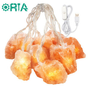 Himalayan Salt Lamp String Light with Rock 78 Inches USB Cable Decoration Lights