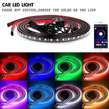 4 Pcs RGB LED Strips Under Car Tube Underglow Phone APP Control Glow System Kit
