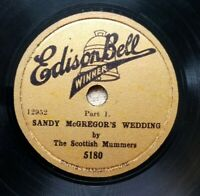 "Scottish Mummers 'Sandy McGregor's Wed' (1930) 78 rpm Shellac 10"" Edison 5180 EX"