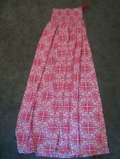 PINK PRINTED PULL ON MAXI DRESS - SIZE 10 - NEW WITH TAGS