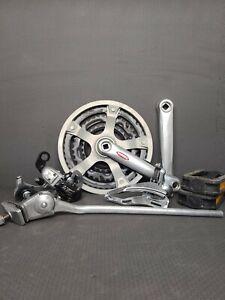 Road Bike Build Kit Shimano Crankset Front Rear Derailleurs GT Pedals Kickstand