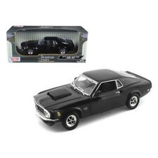 1970 Ford Mustang Boss 429 Black 1/18 Diecast Car Model by Motormax
