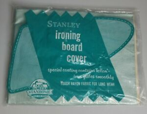 "Vtg Stanley Ironing Board Cover w. Teflon for Standard 54"" Tapered Board USA"