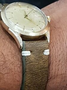 1950s Vintage Tissot Bumper Automatic Mens Watch Steel 33,8mm Great Patina Swiss