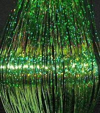 "240  STRANDS, 40"" SPARKLE GREEN SILK HAIR TINSEL# 23"