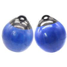 2pc Mooring Buoy inflatable Boat Fender Buoy Bumper Ball Dia. 9.8inch H 12.2inch