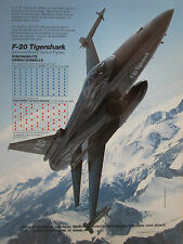 9/1986 PUB NORTHROP F-20 TIGERSHARK USAF TACTICAL FIGHTER ORIGINAL FRENCH AD
