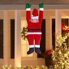 Santa Wall Hanging Roof Gutter Santa Hangs Outdoor Indoor Decor 5ft. SHIPS 3 DAY