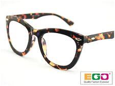EGO Tom Retro Geek Eyeglasses Ford Style Horn Rim Tortoise Reading glasses +1.50