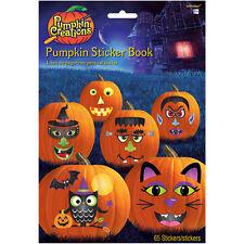 Potiron Cahier D'Autocollants Halloween Enfants Activité Visages Décoration