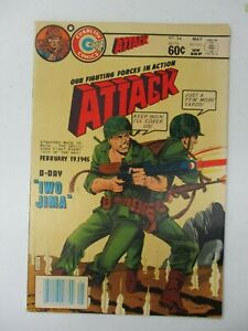 ATTACK #34 MAY 1982 VF- BRONZE WAR CHARLTON COMICS IWO JIMA OUR FIGHTING FORCES
