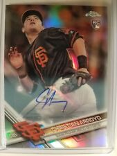 2017 Topps Chrome Update Christian Arroyo RC Auto Refractor HMT32 GIANTS