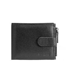 Teemzone Men Leather Business Snap Short Wallet Money Clip Zippered Coin Purse