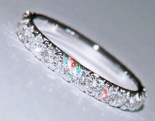 1ct brillante natürliche Diamant Verlobungsring Ehering 14k massives Weißgold