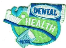 Girl Boy Cub DENTAL HEALTH tooth Patches Crests Badge SCOUTS GUIDE dentist visit