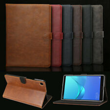 "For Huawei MediaPad M3 M5 8.4"" 10"" T3 8"" Leather Wallet Stand Tablet Cover Case"