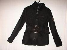 Trademark Wool Warm Coat size Medium Black Lois Club Designer Brand Bull