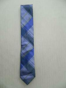 Kenneth Cole Reaction Men's Purple Layer Grid Tie Silk Blend NWT MSRP A2