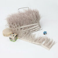 High Quality 1Metre Ostrich Feather Trimming Fringe Ribbon Cloth Decor 8-10cm