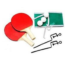 Set Da Ping Pong Palline Racchette Rete Per Tavolo Sport Gioco Divertimento 266