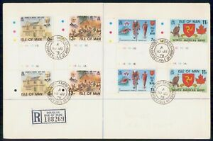 Mayfairstamps ISLE OF MAN FDC 1978 COVER JAMES K WARD GUTTER PAIRS wwk43421